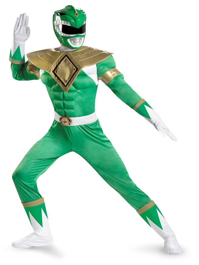 Power Rangers Green Ranger Adult Muscle Costume
