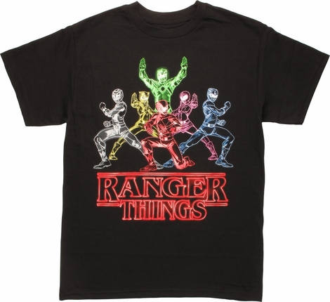 Power Rangers Neon Ranger Things T-Shirt
