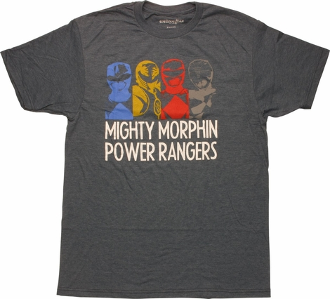 Power Rangers Outline and Name Mighty Fine T-Shirt