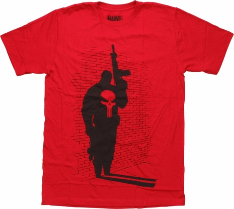 Punisher Shadow Against Brick Wall T-Shirt