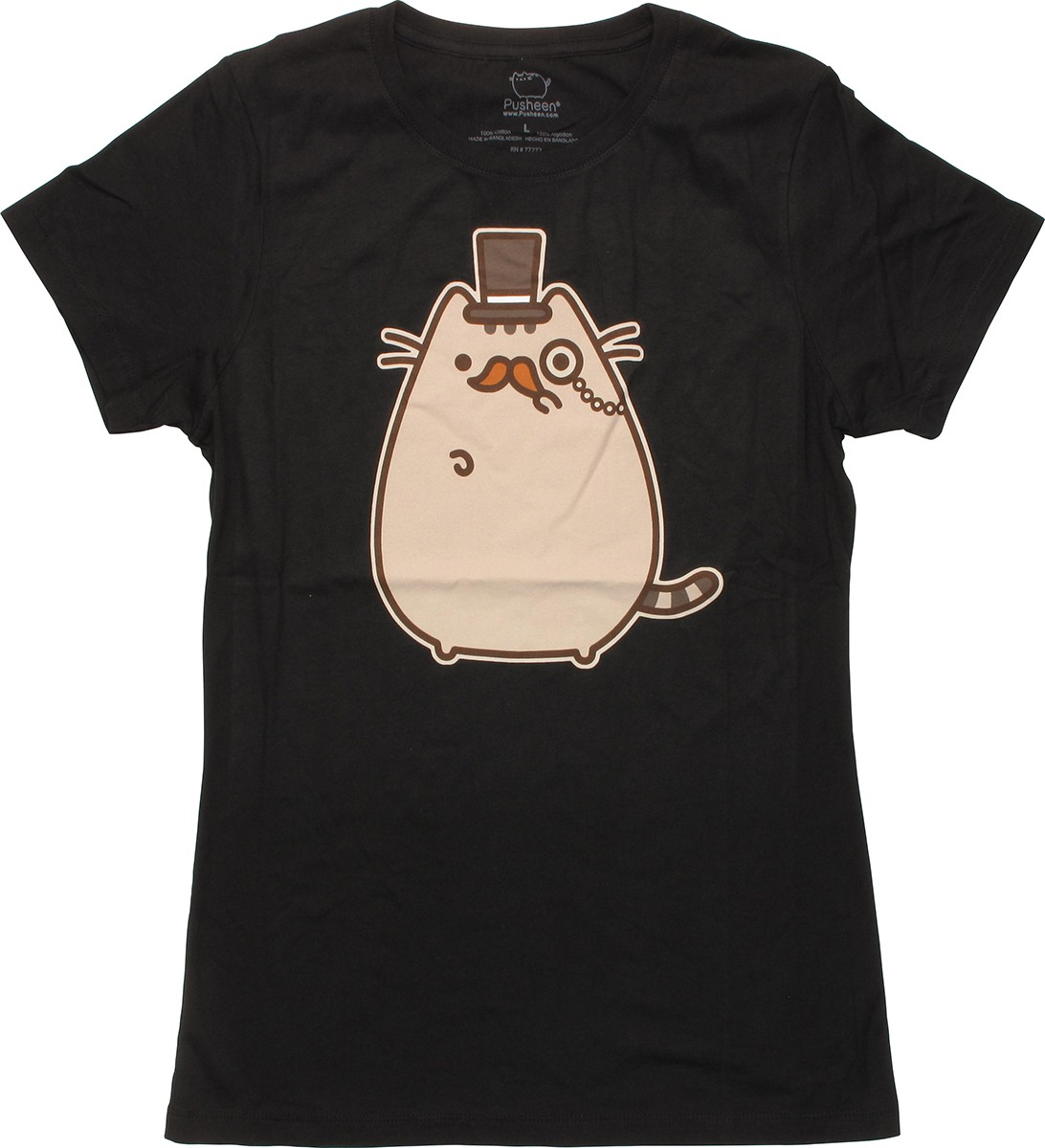 pusheen the cat monsieur juniors t shirt