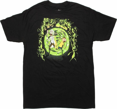 Rick and Morty Portal Monsters T-Shirt