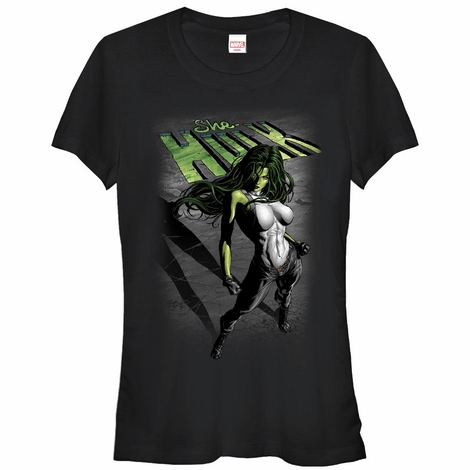 She-Hulk Dark Art Cover Juniors T-Shirt