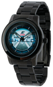 SHIELD Agent Mens Alloy Case Black Watch