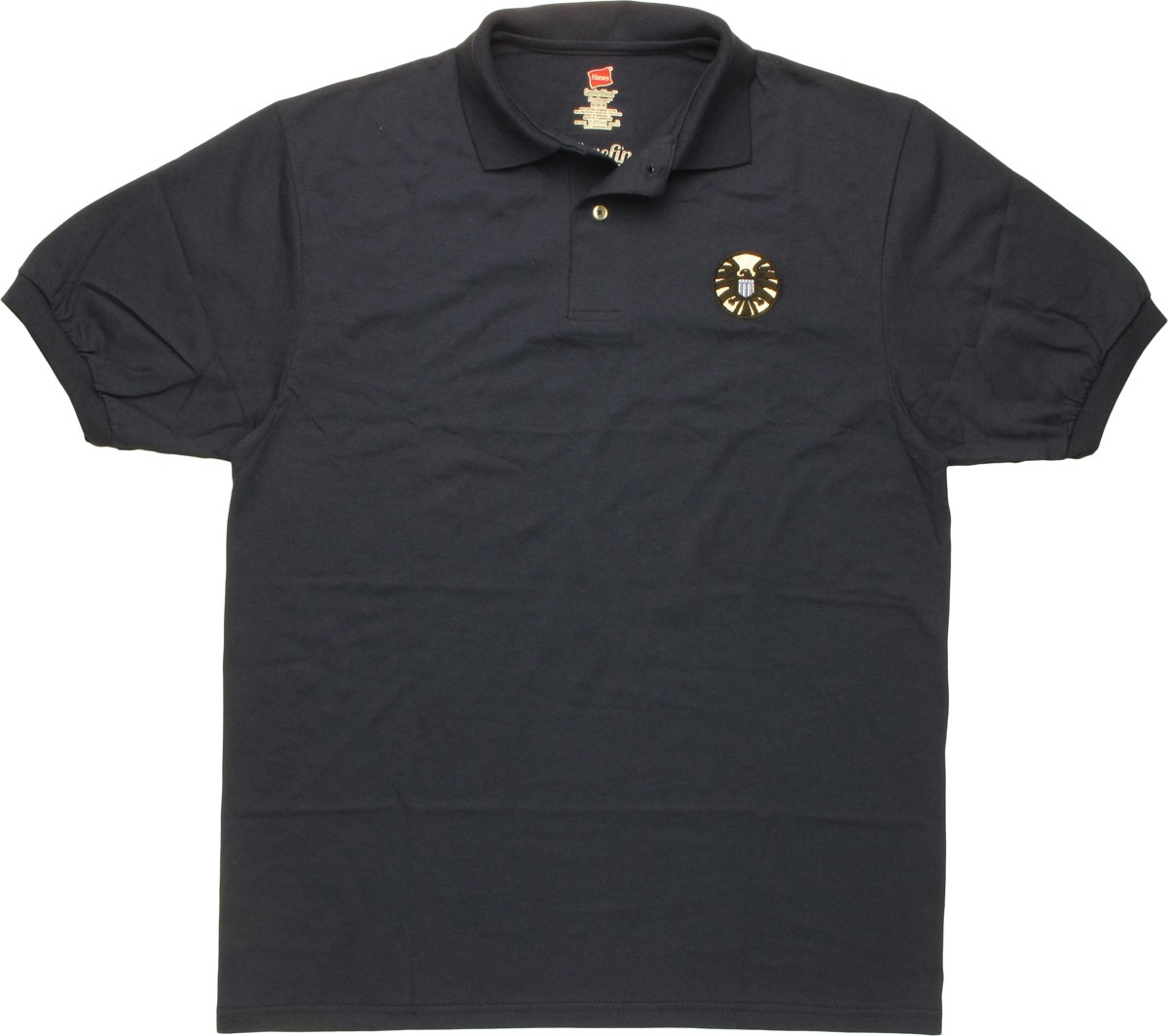 Shield large embroidered logo polo shirt for Embroidered polo shirts online