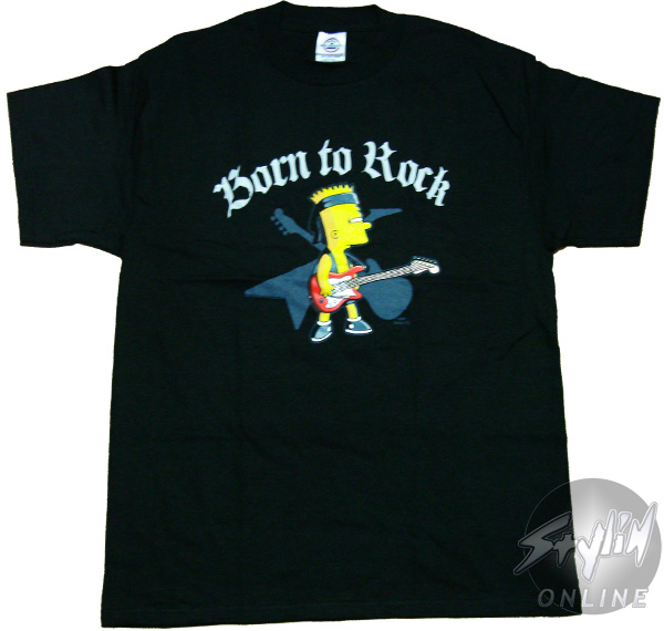 Simpsons bart guitar t shirt for Simpsons t shirts online