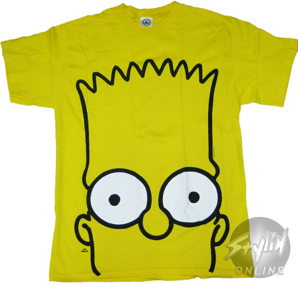 Simpsons Bart Head T Shirt