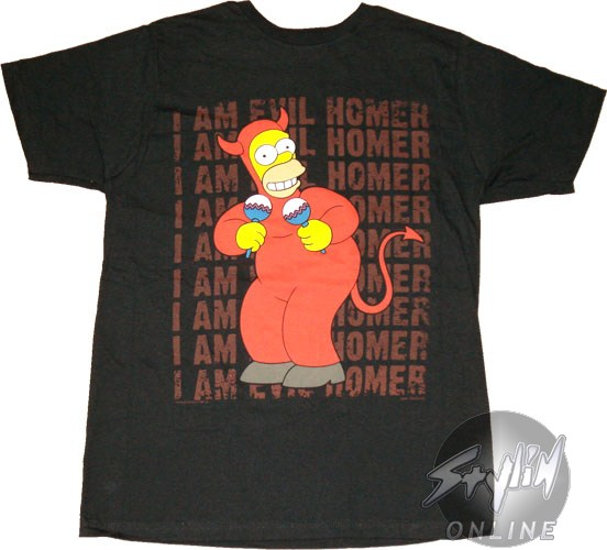 Simpsons Evil Homer T Shirt Sheer