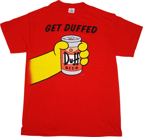 Simpsons Get Duffed T Shirt