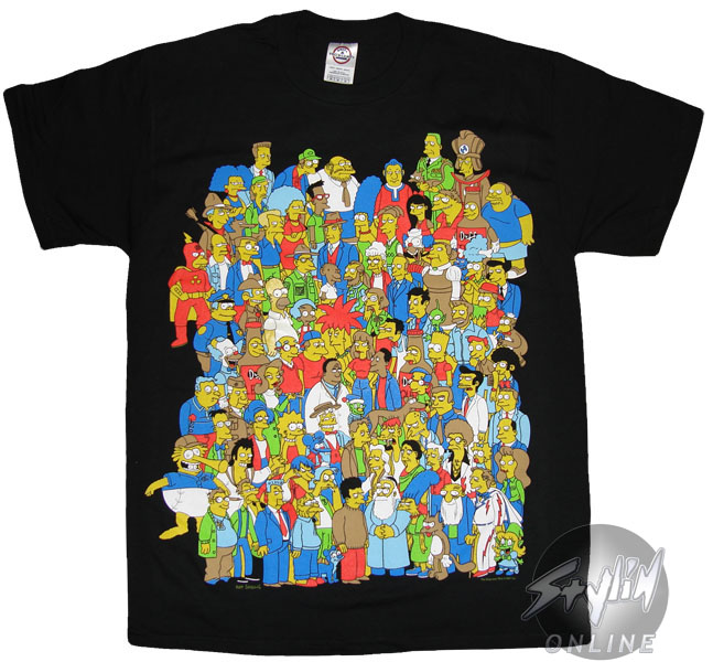 Simpsons Group T Shirt