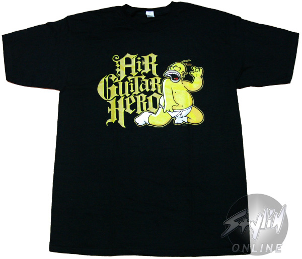 Simpsons homer air guitar hero t shirt for Simpsons t shirts online