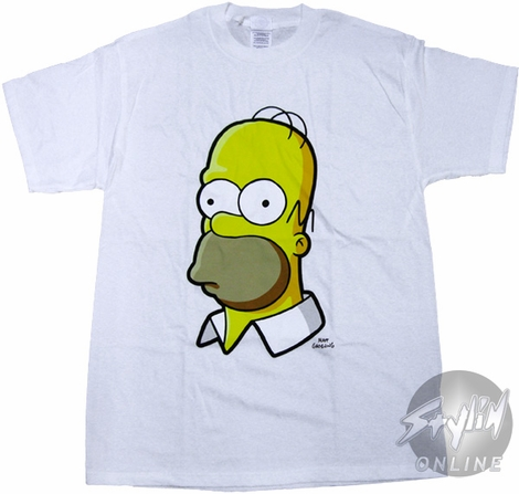 Simpsons Homer Head T-Shirt