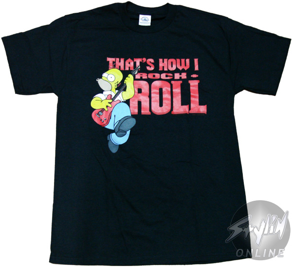 Simpsons Homer How I Rock T Shirt