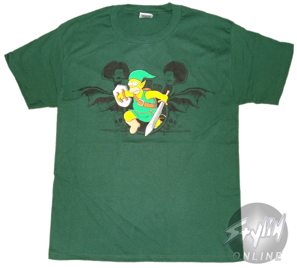 Simpsons Homer Of Hyrule T Shirt