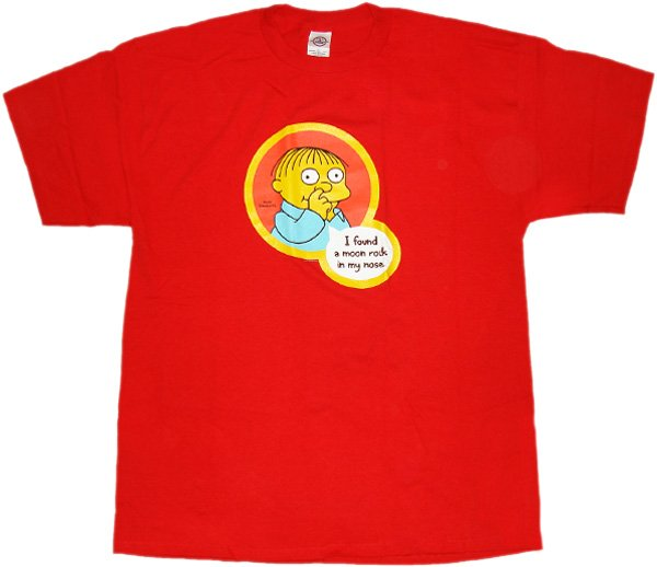 Simpsons moon rock t shirt for Simpsons t shirts online
