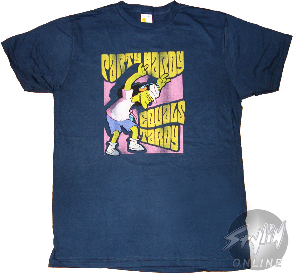 Simpsons party hardy t shirt sheer for Simpsons t shirts online