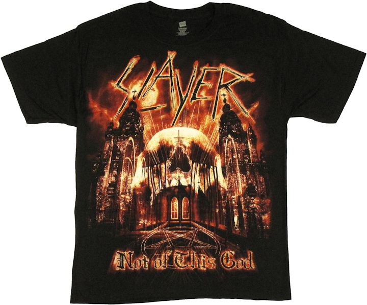 slayer not of this god t shirt. Black Bedroom Furniture Sets. Home Design Ideas