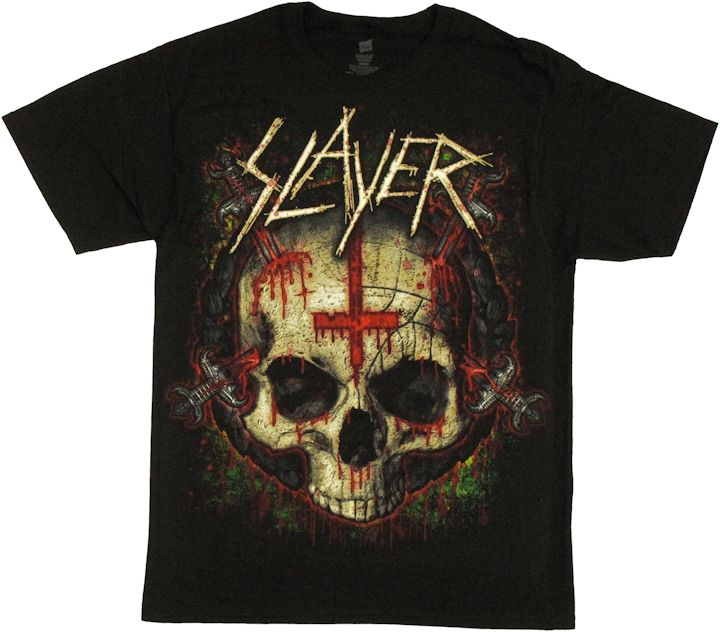slayer ritual skull t shirt. Black Bedroom Furniture Sets. Home Design Ideas