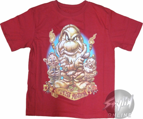 Snow White Grumpy Tiki Youth T-Shirt