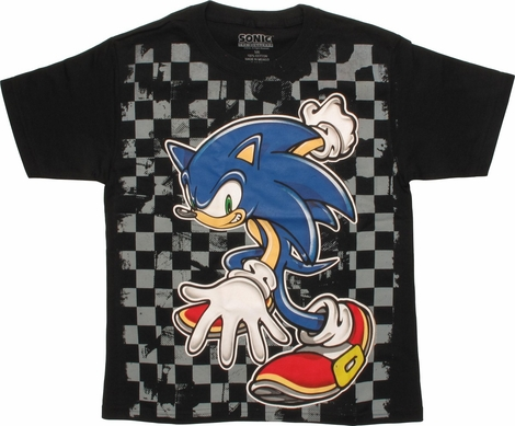 Sonic the Hedgehog Checker Board Youth T-Shirt
