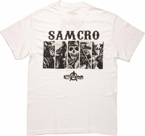 Sons of Anarchy Crew Bars SAMCRO T-Shirt