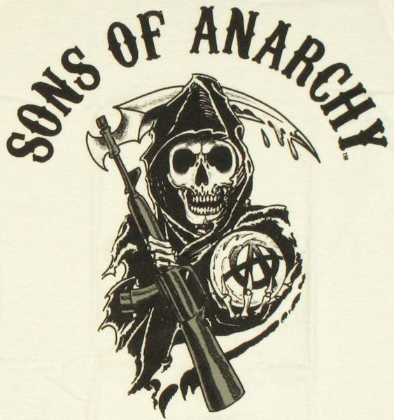 sons of anarchy name reaper white baby tee