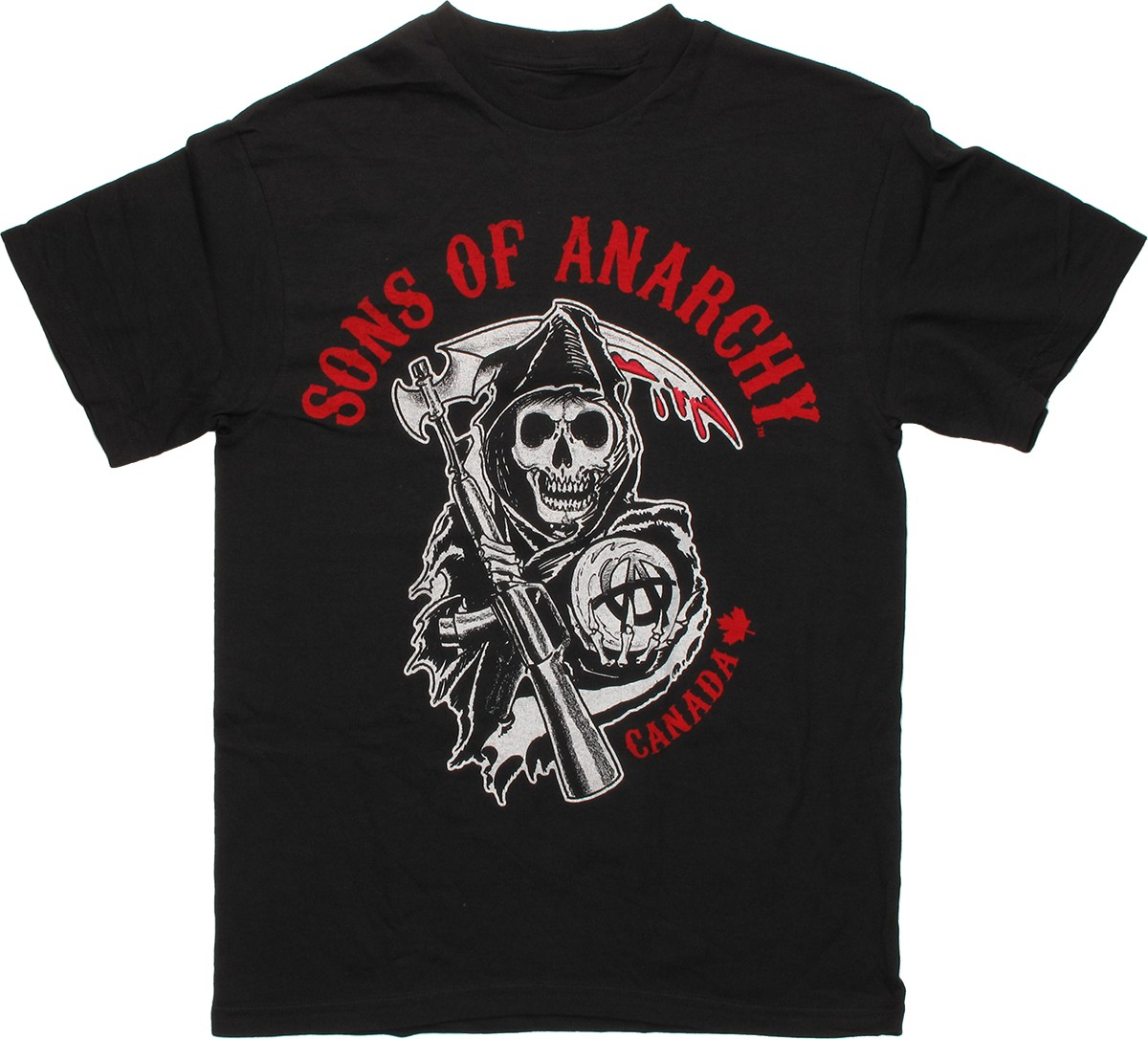 sons of anarchy reaper canada t shirt. Black Bedroom Furniture Sets. Home Design Ideas