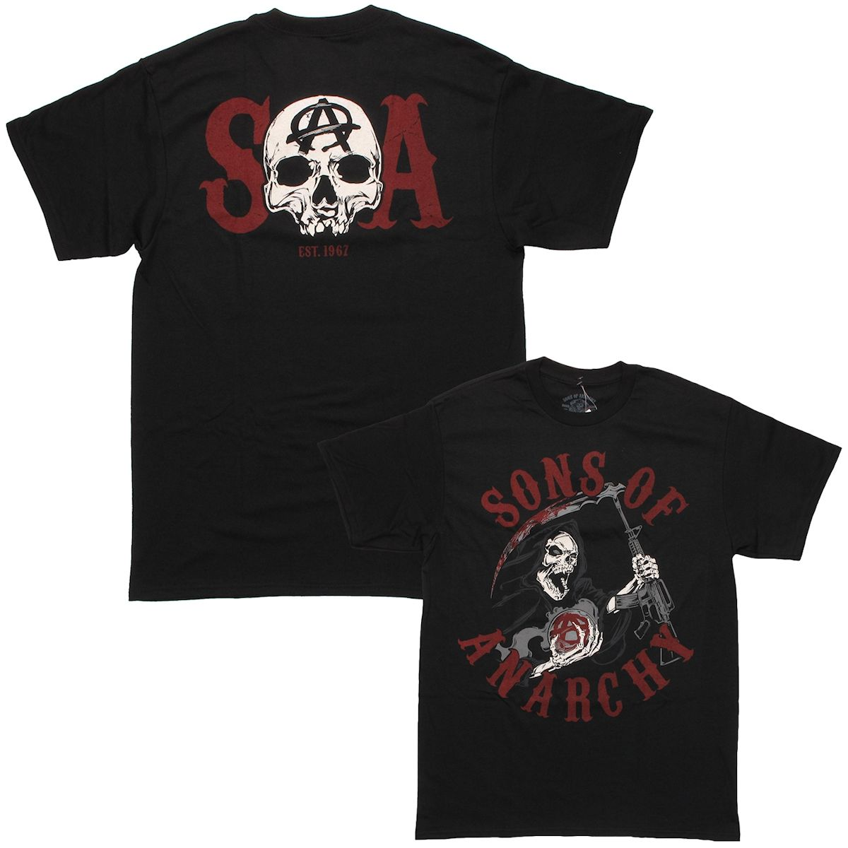 sons of anarchy reaper charge soa t shirt. Black Bedroom Furniture Sets. Home Design Ideas
