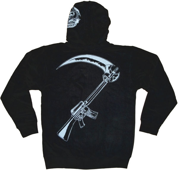 sons of anarchy reaper crew hoodie. Black Bedroom Furniture Sets. Home Design Ideas