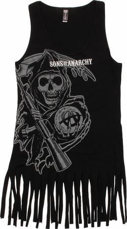Sons of Anarchy Reaper Fringe Tank Juniors T-Shirt