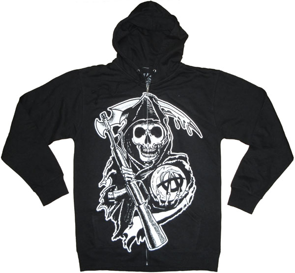 sons of anarchy reaper hoodie. Black Bedroom Furniture Sets. Home Design Ideas