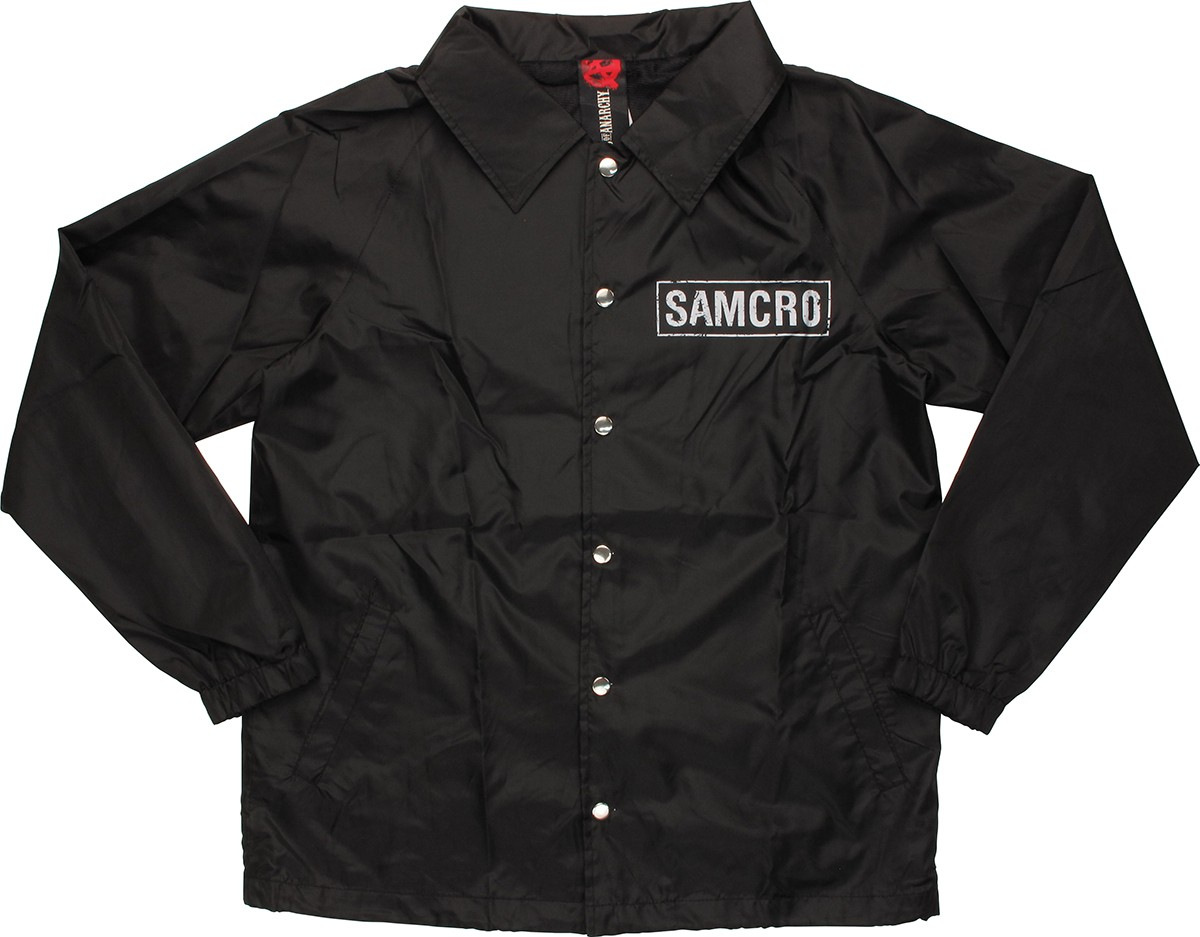 sons of anarchy samcro coach snap jacket. Black Bedroom Furniture Sets. Home Design Ideas