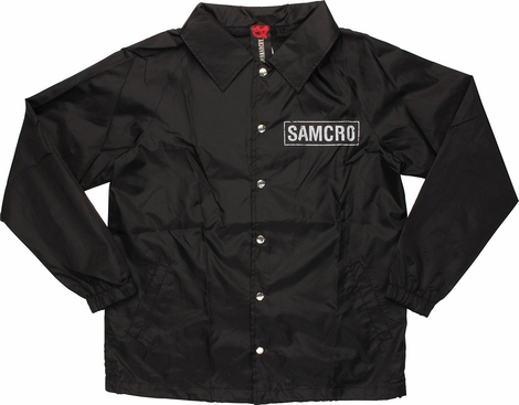 Sons of Anarchy SAMCRO Coach Snap Jacket