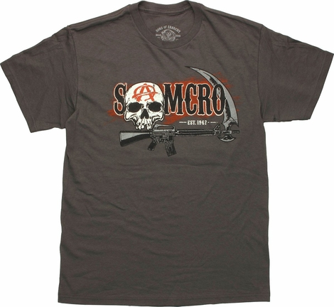 Sons of Anarchy SAMCRO Skull Scythe T-Shirt