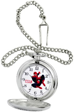 Spiderman Alloy Silver Pocket Watch