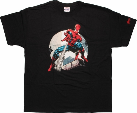 Spiderman Down Shoot T-Shirt