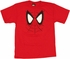 Spiderman Face Youth T Shirt