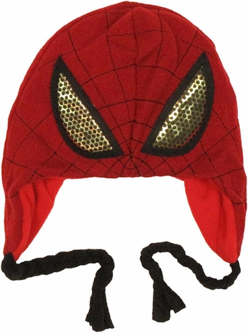 Spiderman Foil Eyes Lapland Beanie