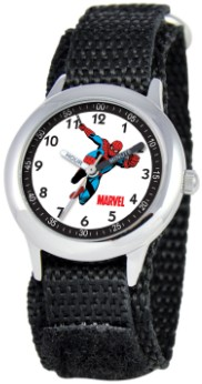 Spiderman Kids Time Teacher Black Silver Watch