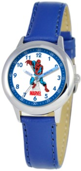Spiderman Kids Time Teacher Blue Silver Watch