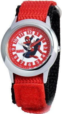 Spiderman Kids Time Teacher Red Silver Watch