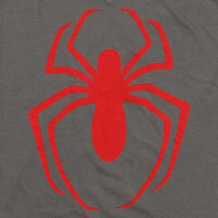 Spiderman Logo V Neck Baby Tee