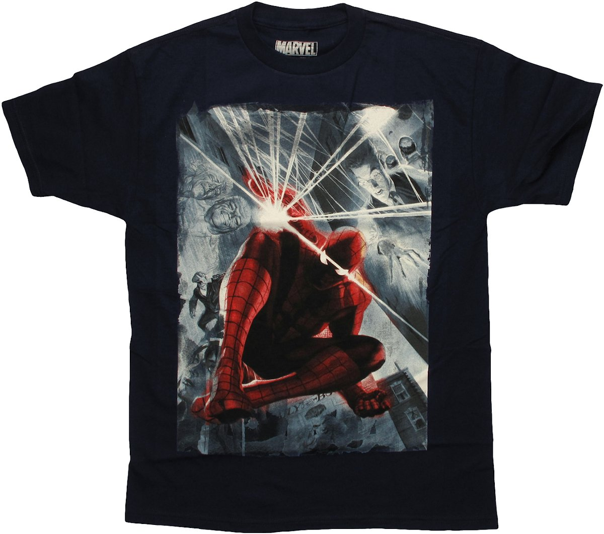 spiderman marvel 75th special edition alex ross t shirt. Black Bedroom Furniture Sets. Home Design Ideas