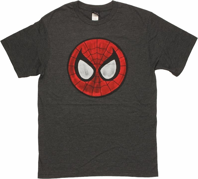 spiderman mask logo t shirt sheer. Black Bedroom Furniture Sets. Home Design Ideas