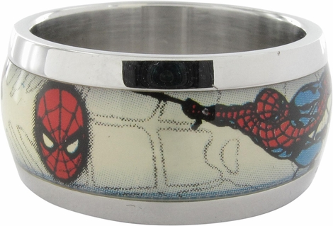Spiderman Mask Web Sling Ring