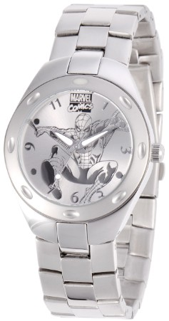Spiderman Mens Fortaleza Silver Watch
