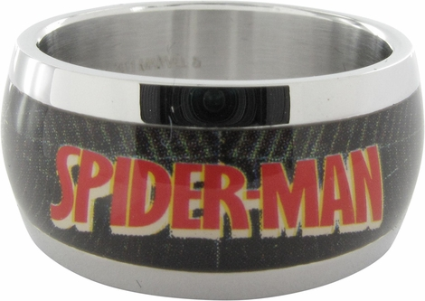 Spiderman Name Web Side Mask Ring