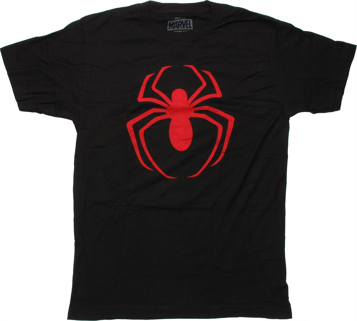 spiderman red spider logo t shirt sheer. Black Bedroom Furniture Sets. Home Design Ideas