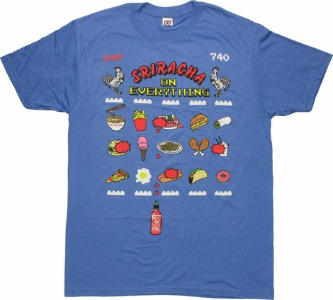 Sriracha On Everything Game T Shirt Sheer