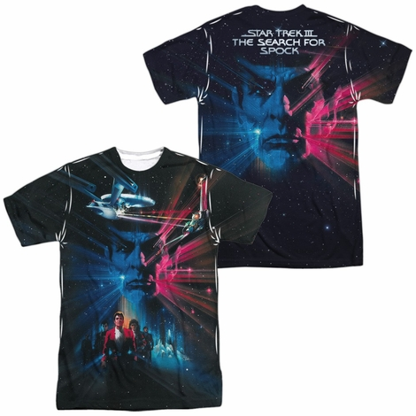 Star Trek 3 Movie Poster FB Sublimated T Shirt